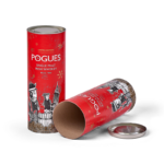 One Piece Card Tube Packaging with Metal Lid